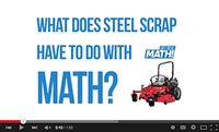 What does steel scrap have to do with math?