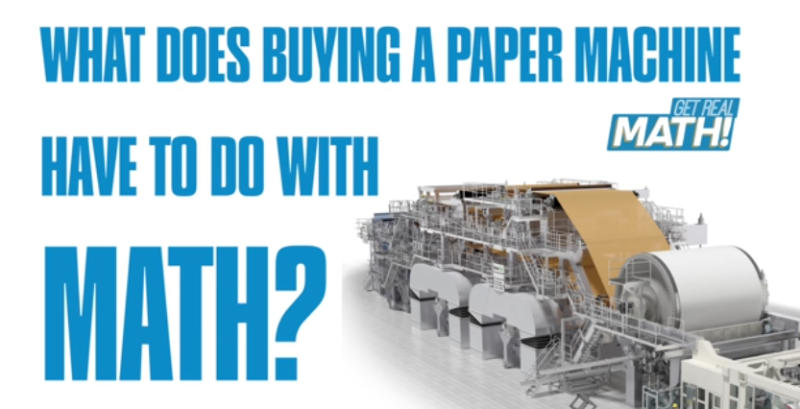 What does buying a paper machine have to do with math?