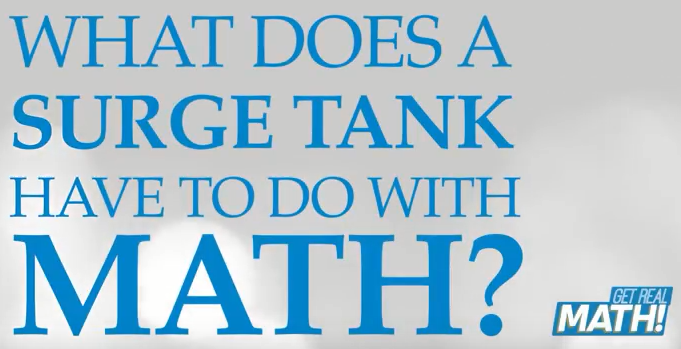 What does a surge tank have to do with math?