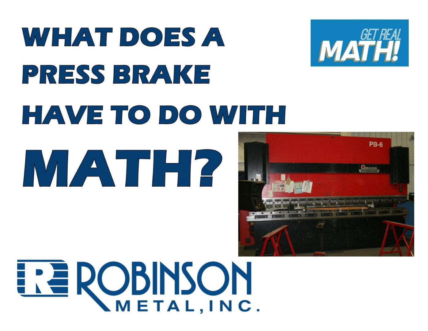 What does a press brake have to do with math?