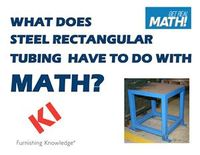 What does steel rectangular tubing have to do with math?