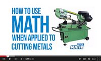 How to use math when applied to cutting metals